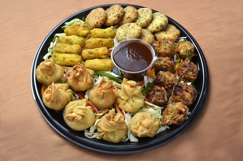 Vegetarian Appetizer Platter Clay Oven Winnipeg East Indian Restaurant